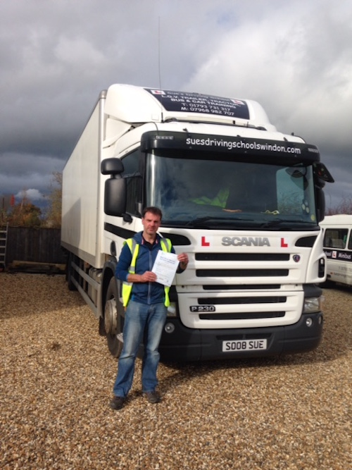 Took and passed my Cat C rigid lorry test today.